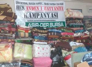 Bursada Suriye İçin Battaniye Kampanyası