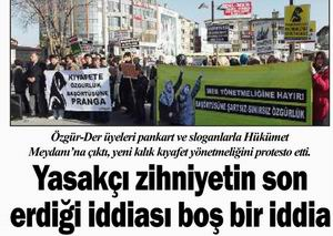 Yeni Kılık Kıyafet Yönetmeliğini Protesto Edildi