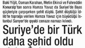 Suriye'de Bir Türk Daha Şehid Oldu