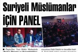Suriyeli Müslümanlar İçin Panel