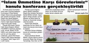 İslam Ümmetine Karşı Görevlerimiz Konulu Konferans Gerçekleştirildi