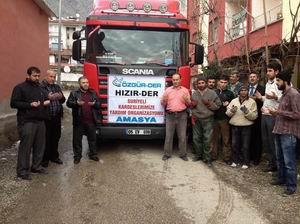 Suriye'ye Yardım Tırı Amasya'dan Yola Çıktı