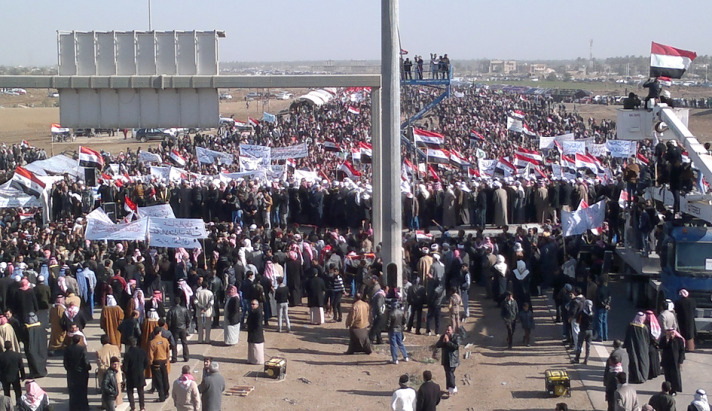 Bağdatta Sünni Muhalefet Gösterisi (Video)