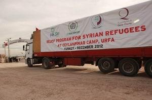 İHHdan Suriyeli Mültecilere 15 Tır Yardım