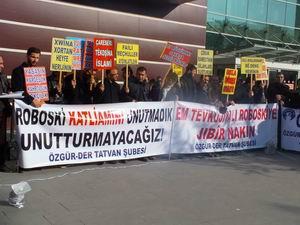 Roboski Katliamı Tatvan'da Protesto Edildi