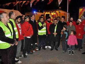Tıbbi Malzeme Yardım Konvoyu Suriye'de