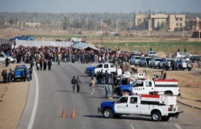 Kerkükte Malikiye Protesto