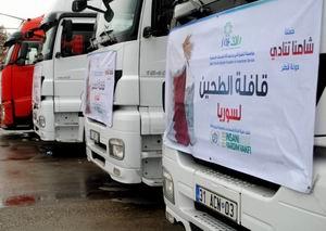 İHHnın Yardım Tırları Suriyeye Girdi!