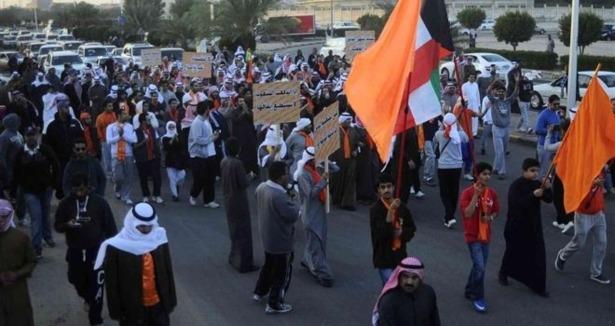 Kuveyt Polisinden Göstericilere Sert Müdahale