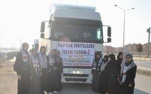 Van'dan Suriyelilere 5 Tır İnsani Yardım