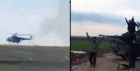 Direnişçiler Taftanazda Helikopter Düşürdü