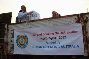 İHH ve Human Appeal Suriyede Yardım Dağıttı