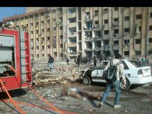 Halep Üniversitesi'ni Bombaladılar (VİDEO)