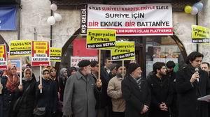 Sivas'ta Fransanın Mali İşgali Protesto Edildi