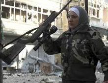 Halep'te Kadın Sniper (FOTO-VİDEO)