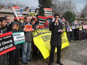 Bursa'da Mali İşgali Protesto Edildi