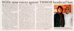 NGOs Raise Voices Against Tmmob Headscarf Ban