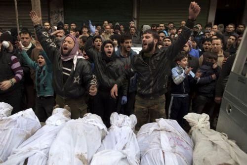 Kuveyk Nehri Şehitleri Halepte Defnedildi (FOTO)