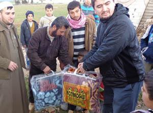 Eynesil ve Trabzonun Yardımları Suriyede (FOTO)