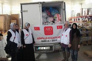 AID Mazlum Suriye Halkının Yaralarını Sarıyor