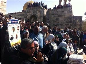Mescid-i Aksa'da Siyonistler Filistinlilere Saldırdı