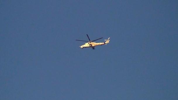 Halepte Askeri Helikopter Düşürüldü
