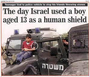 Filistinli Çocukları Canlı Kalkan Yaptılar