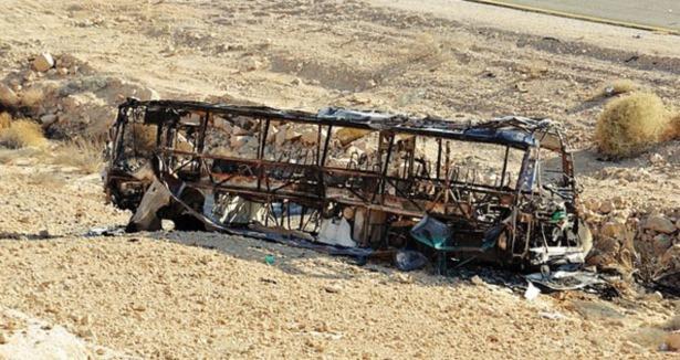 Filistinliler Irkçı Otobüsleri Ateşe Verdi