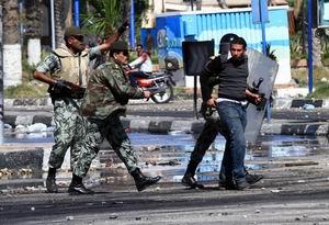 Port Said'te Gösteriler Sürüyor