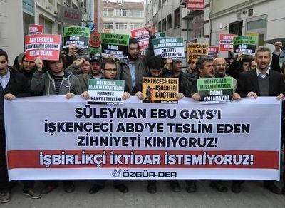 Özgür-Der, Ebu Gays'ın Teslim Edilmesini Protesto Etti