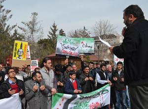 Suriye İntifadasının 3. Yıldönümünde Van'dan Destek Eylemi
