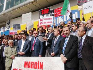 Mardinde Katil Baas Rejimi Telin Edildi