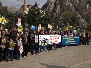 Baas Zulmü Amasyada Protesto Edildi