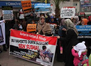 Kdz. Ereğlide Suriye Halkına Destek Eylemi Yapıldı