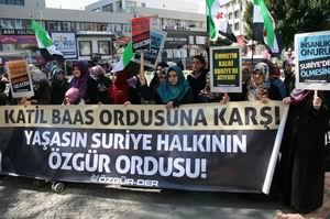 Antalya'da Suriye İntifadasına Destek Eylemi