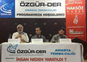 """Amasya'da """"İnsan Neden Yaratıldı?"""" Paneli"""