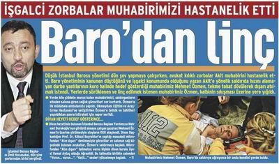 Özgür-Derden İstanbul Barosuna Kınama