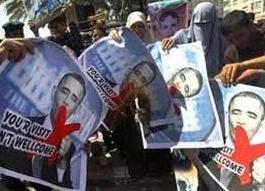 """Ramallah Halkından Obama'ya: """"Hoş Gelmedin!"""""""