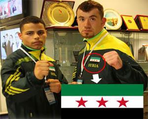 Şampiyonada Özgür Suriye Bayrağı
