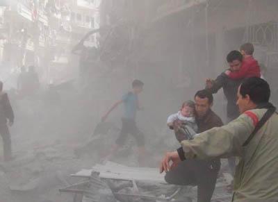 Esed Güçleri Yine Vahşice Bombaladı (VİDEO)
