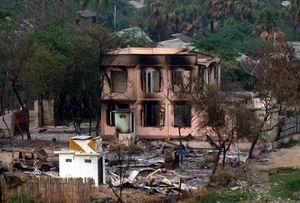 Budistler Camileri Yakıp Evleri Ateşe Verdi