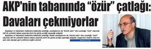 """AKP'NİN TABANINDA ÇATLAĞI: ÖZÜR DAVALARI ÇEKMİYORLAR"""""""