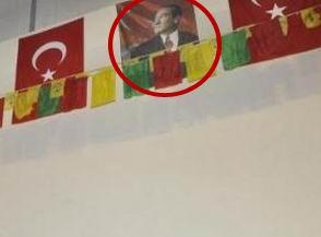 Atatürk ve Öcalan BDP Panelinde Yan Yana