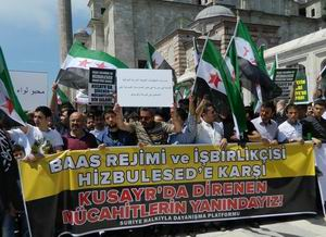 "Fatih Camii'nde Protesto:  ""Katil İran, Katil Hizbullah"" (FOTO-VİDEO)"