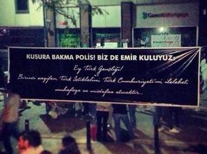 """Gezicilerden Polise: """"Biz de Emir Kuluyuz!"""""""