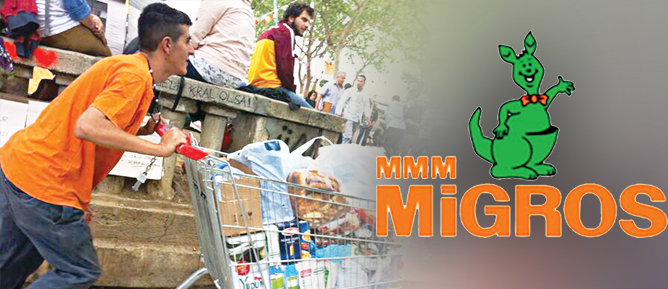 Gezi Parkçıların İhtiyaçları Migros'tan
