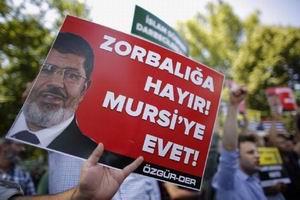 Elçilik Önünde Mursiye Destek Eylemi