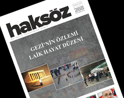 Haksöz Dergisinden Gezi Parkı Dosyası