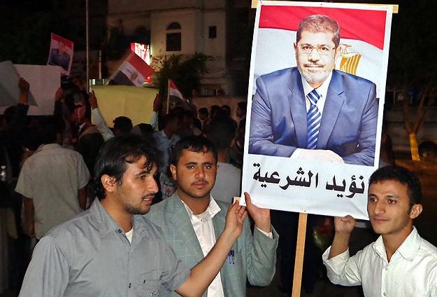 Filistin ve Yemen'de Mursi'ye Destek Eylemi
