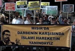 Sivas'ta Mısır Cuntasının Katliamı Protesto Edildi